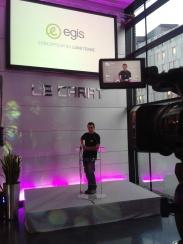 Installation vidéo, son, lumière, avec ALE, 2013.