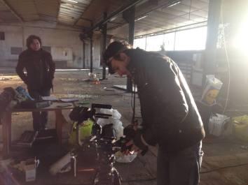 """En tournage pour le film """"Je suis ..."""", d'Ingrid Franchi."""